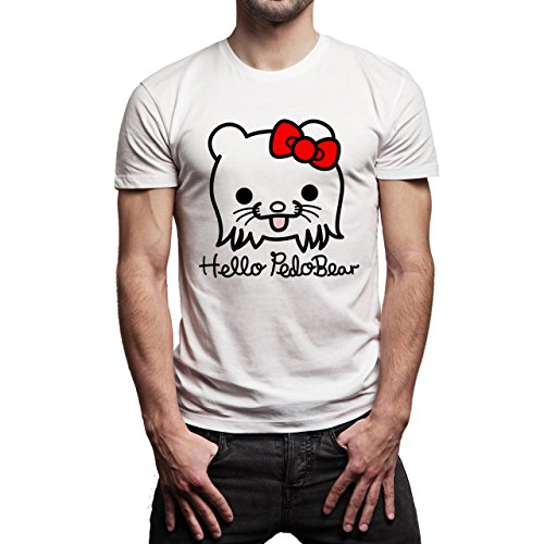 Meme Pedo Bear Hello Background Herren T-Shirt Weiß