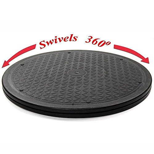 O-Best 12Inch Heavy Duty Rotating Swivel Steel