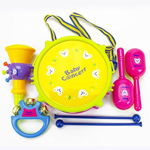 -Set für Babys, Musikinstrumente, Puzzle, Bunte Musik-Spielzeuge, Halloween-Taschen für Kinder, Trompete, 5-teiliges Set ()