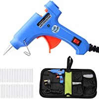 YTE 20W Mini Hot Melt Glue Gun with 40pcs Glue Sticks and Carry Bag, Electric High Temperature Melting Glue Gun Kit for DIY Small Craft and Quick Repairs