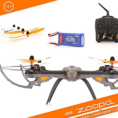 Acme – zoopa Q 600 Mantis Quadro – Lovely For Outdoor 2.4GHz 150 M Range (ZQ0600 | Light Switch 360 ° Flip 3 Speeds)