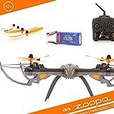 ACME - zoopa Q 600 mantis Quadro - genial für Draussen 2,4GHz | Licht zu schaltbar | 360° Flip | 3 Geschwindigkeiten | 150m Reichweite (ZQ0600)