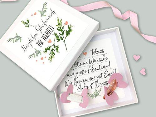 Geldgeschenk Verpackung zur Hochzeit Lasst Liebe wachsen