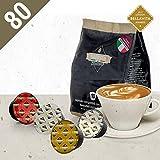 Barista Italiano 80 Dolce Gusto Kompatible Kapseln (CAPPUCCINO, 80 Kapseln, 40 Tassen, 3 Kaffeesorten + Milch)