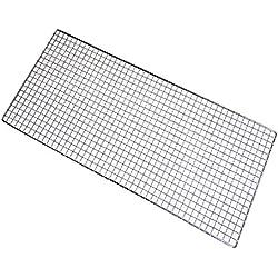Grillrost eckig aus Eisendraht für Holzkohlegrill, Gasgrill (32 * 26 cm)