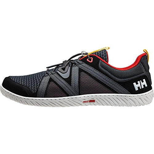 Helly Hansen Herren Hp Foil F-1 Slipper, Mehrfarbig (Ebony/Black/Alertred 980), 45 EU