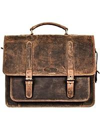 Genuine Leather Men's Messenger Bag – Men's Portfolio Bag – Men's Leather Shoulder Bag-Leather Office Bag-Leather... - B07CMS6QR2