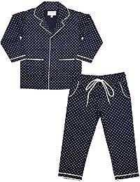 ShopMozo Blue Printed Boys Night Suit (Boys Night Dress)