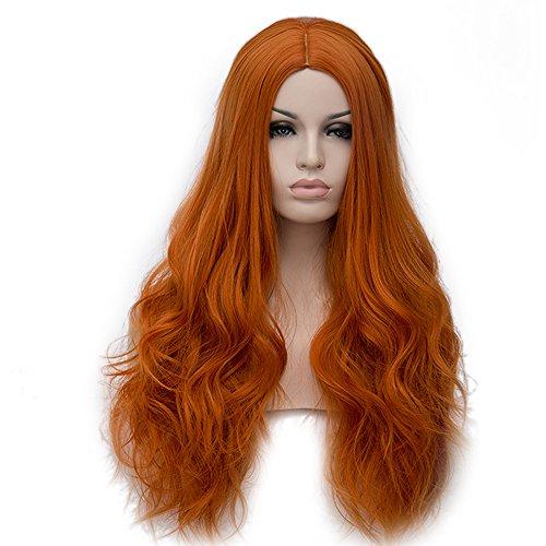 ita Fashion Harajuku Cosplay Hair Full Wig Perücke (Orange) (Orange Kostüm Perücke)