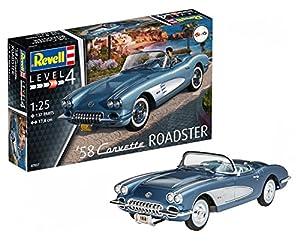Revell Revell-1958 Maqueta 1958 Corvette Roadster, Kit Modelo, Escala 1:25 (7037)(07037), 17,8 cm de Largo (