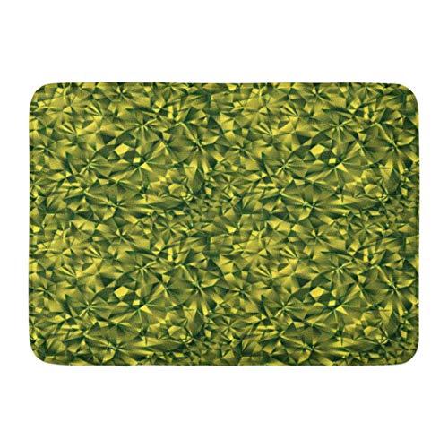 LIS HOME Badematte kleine grüne Facette Smaragd Edelstein Juwel abstrakte Badezimmer Dekor Teppich -