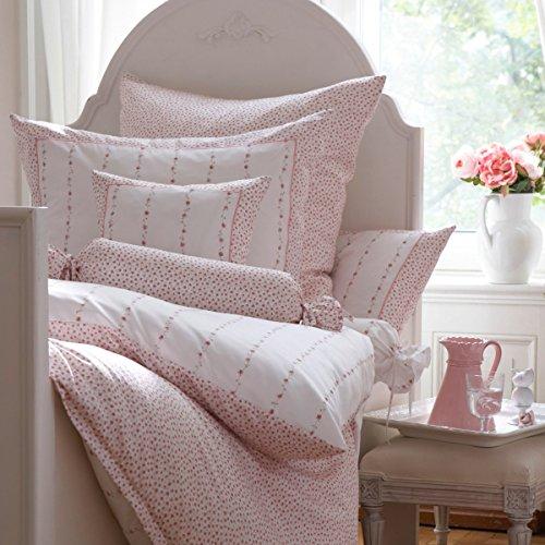 Janine Design Chinchilla S Edelflanell Bettwäsche rose 7505 Kissenbezug einzeln 40x40 cm (Bettwäsche Chinchilla)