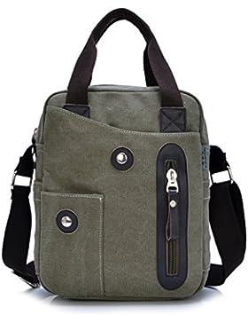 MeCooler Herren Umhängetasche Retro Canvas Messenger Schultaschen Vintage Taschen für die Schule Sporttasche Reisetaschen...