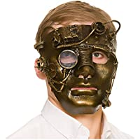 Deluxe Robot Steampunk Mask Droid Android Space Sci Fi Fancy Dress Cosplay