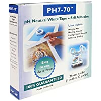 PH7-70 Acid Free Conservation Mount fixing/Frame seal White Tape 25mm x 66m