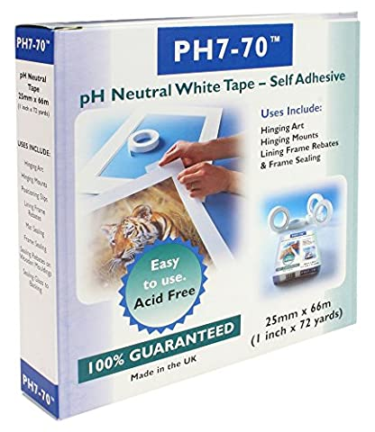 PH7-70 Acid Free Conservation Mount fixing/Frame seal White Tape 25mm