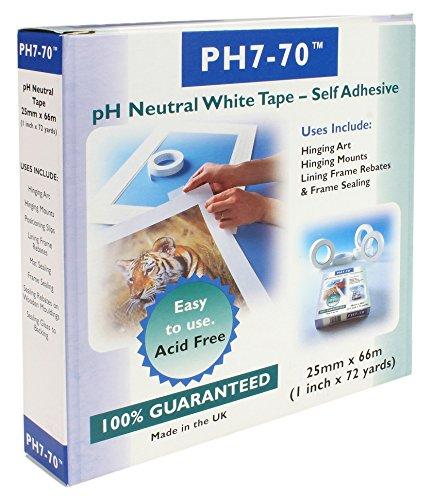 ph7-70-libre-de-acidos-conservacion-fijacion-de-montaje-marco-reten-blanco-cinta-25-mm-x-66-m