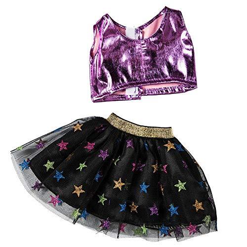 Spitzentanz Rock im europäischen und amerikanischen Stil Puppenkostüme, Malloom Kleidung Rock für 18 Zoll American Boy Puppe Zubehör Mädchen Spielzeug Kleidung Set (18-zoll-american Mädchen Puppe)