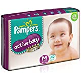 Pampers Active Baby Medium Size Diapers (62 Count)