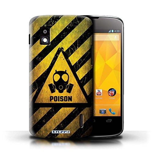 Kobalt® Imprimé Etui / Coque pour LG Nexus 4/E960 / Biohazard conception / Série Signes de Danger Poison