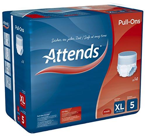 Attends Pull-Ons 5XL, Einmalhose, für mittlere Blasenschwäche, Größe XL, 4 x 14 St - 3