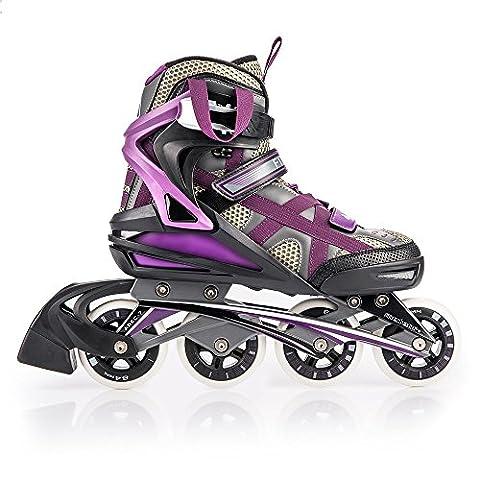 METEOR® Rollers ELO Violet Big Wheel Roller (enfants pour femme/homme-84mm, ABEC 7carbon, 36-42), FR:42