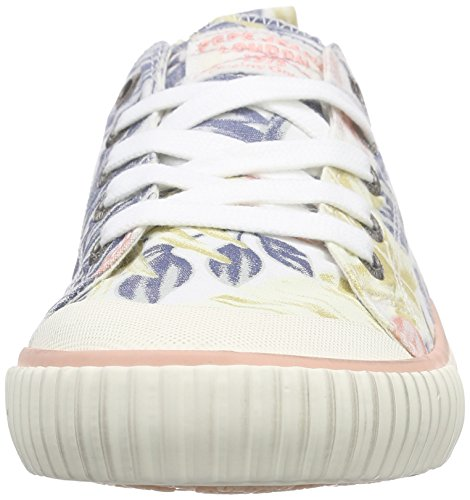 Pepe Jeans Damen Industry Low Vett Sneakers Weiß (800WHITE)