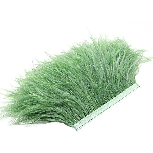 ed Trims Fringe mit Band Satin-Band, für die Kleid Kostüm Crafts Kostüme DIY Dekoration (olive-green) ()