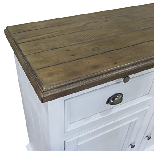 The Wood Times Sideboard Vintage Wohnzimmerschrank Massiv Vermont Kiefernholz FSC Recycled, BxHxT 155x90x45 cm - 2