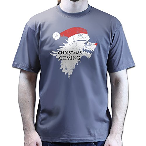 Christmas Winter is Coming Stark Games and Thrones T-shirt Dunkelgrau