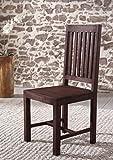 SAM® Stuhl Timber 6611 aus Akazie massiv in tabak robust Esszimmerstuhl tabakfarben naturbelassene Oberfläche Massivholz