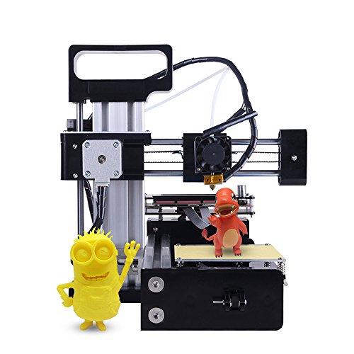 KKmoon Portatile Alta Precisione Compatta Metallo Desktop Stampante 3D Macchina Fai Da Te Kit con Schermo LCD Accessori per la Stampa Supporto Off-line di Stampa PLA Materiale per Entry Level Utente