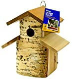 Ouse Valley Wild Bird Nesting Box. Natural Wood Hanging Nest. Garden Wildlife Conservation.