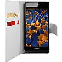 mumbi Tasche im Bookstyle für Huawei Ascend P6 Tasche weiss