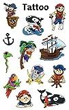 AVERY Zweckform 56683 Kinder Tattoos Piraten (temporäre Transferfolie, dermatologisch getestet) 12 Aufkleber
