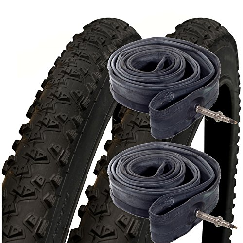"Schwalbe Impac Ridgepac 26\"" x 2.25 Mountain Bike Tyres with Presta Tubes (Pair)"