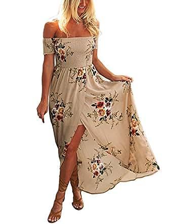 f99b82acf222 Considera questi articoli disponibili. Lylafairy Vestito Lungo Donna Estivo  Boho Floreale AbitoLylafairy ...