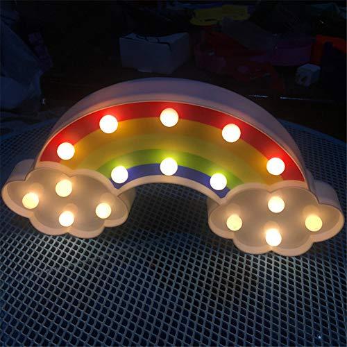 T-MEKA Nubes Arcoíris Deko lámpara LED Luz Nocturna para niños Luces Pared batería Alimentado por iluminación lámpara de habitación de los Niños Decoración para Hogar