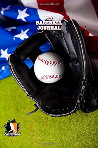MY BASEBALL JOURNAL LINED NOTEBOOK: 6x9 inch daily bullet notes on college style lines with beautiful baseball and glove cover perfect present for boys and men