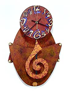 Crescent Horloge murale en Bronze
