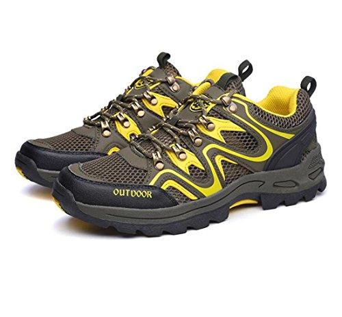 Z&HX sportsSports de plein air chaussures de randonn¨¦e une couche de tissu respirant antid¨¦rapant antid¨¦rapant hommes et femmes Green