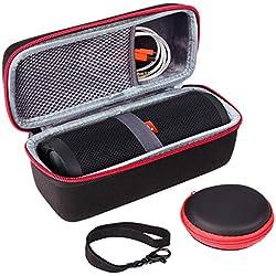 JBL Flip 4 3 2 Housse,Etui JBL Flip 4/3/2 Protection Compatible Haut-parleur Bluetooth sans fil,Adapté au câble USB et au Chargeur par SKYNEW,Noir
