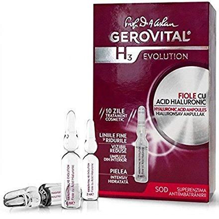 Gerovital h3 evolution, siero per trattamento anti invecchiamento con fiale ialuroniche (etichetta in lingua italiana non garantita)