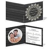 Einladungskarten Hochzeit Hochzeitskarten mit Druck - Holz&Spitze