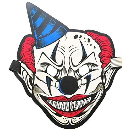 joyliveCY LED Sound Control Maske Halloween Scary Cosplay Maske Leuchtende EL Draht Grimasse Leuchten Maske Festliche Karneval Weihnachtsfeier Costum-11#