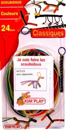 Imagen principal de Kim'Play 201 - Juego de alambres para crear pulseras y figuritas (24 piezas, manual, instrucciones en francés)