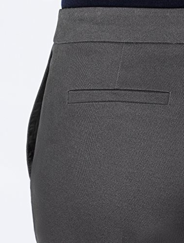 MERAKI Gerade geschnittene Cropped Hose Damen Grau (Marl Charcoal)