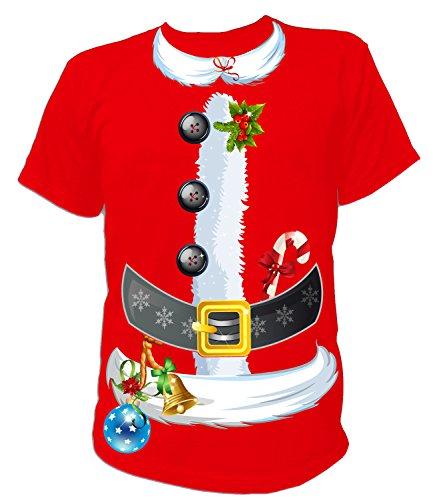 Artdiktat - Santa Claus Kostüm zu Weihnachten für Herren Damen Kinder Babies - Herren T-Shirt Größe XXXL rot
