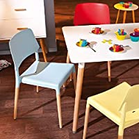 Furniture 321 Links Stackable Kids Children Plastic Chairs set of 4