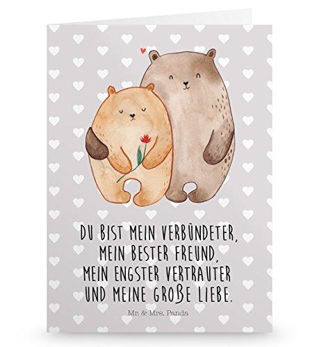 Mr. & Mrs. Panda Grußkarte Bären Liebe - Liebe, Verliebt, Verlobt, Verheiratet, Partner, Freund, Freundin, Geschenk Freundin, Geschenk Freund, Liebesbeweis, Jahrestag, Hochzeitstag, Verlobung, Geschenk Hochzeit, Bären, Bärchen, Bär Grusskarte, Klappkarte, Einladungskarte, Glückwunschkarte, Hochzeitskarte, Geburtstagskarte